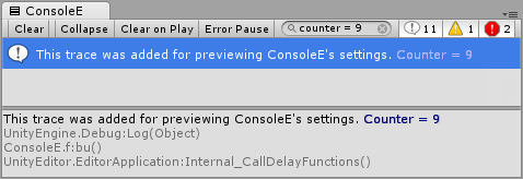 Console Enhanced A replacement console for Unity3D by